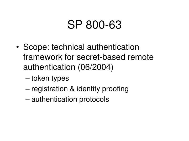SP 800-63