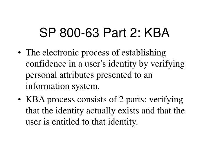 SP 800-63 Part 2: