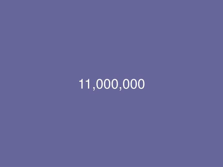 11,000,000