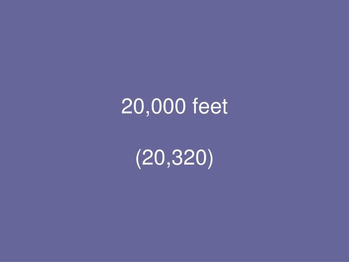 20,000 feet