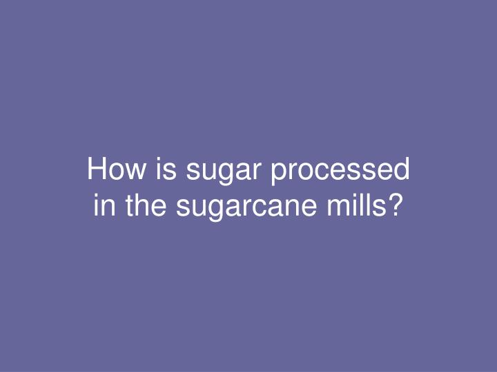 How is sugar processed