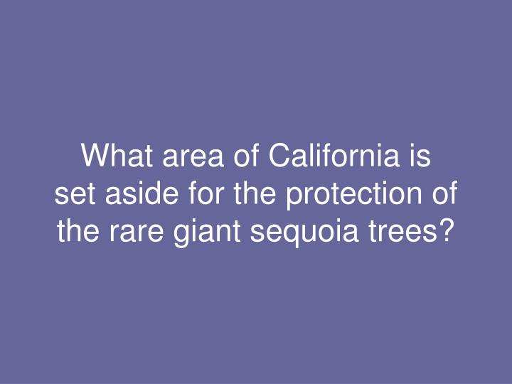 What area of California is
