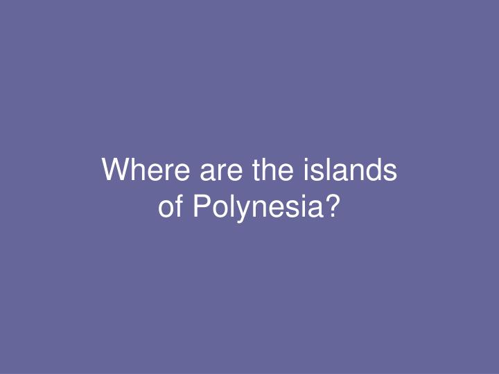 Where are the islands