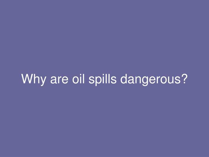 Why are oil spills dangerous?