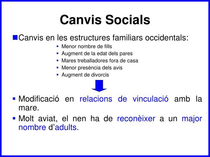 Canvis Socials
