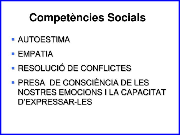 Competències Socials