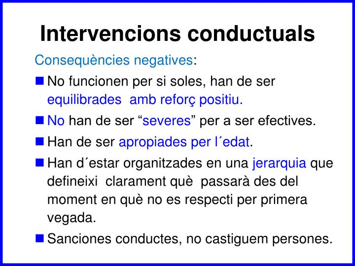 Intervencions conductuals