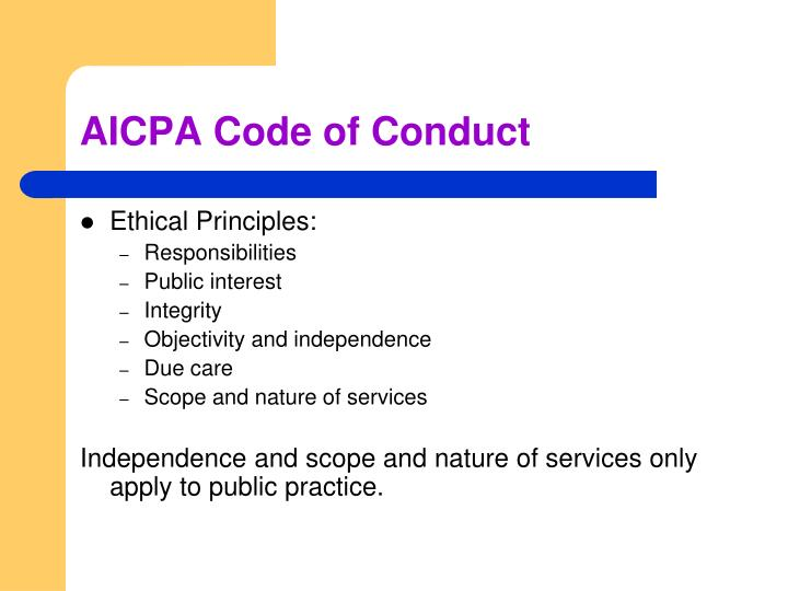 AICPA Code of Conduct