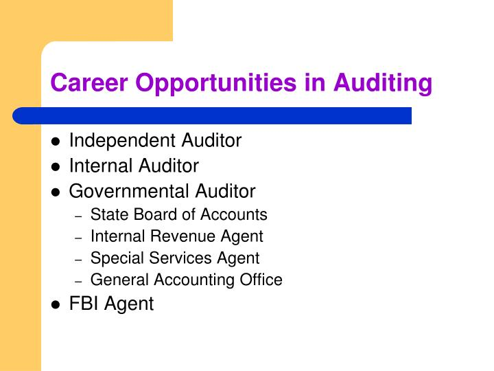 Career Opportunities in Auditing