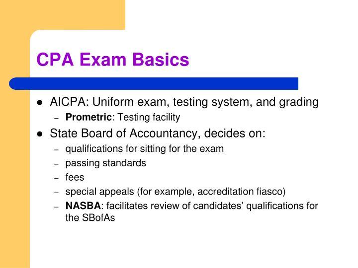 CPA Exam Basics