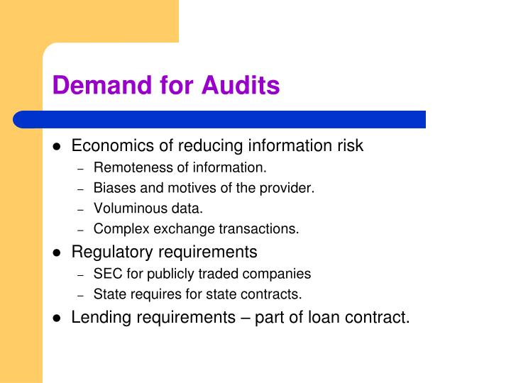 Demand for Audits