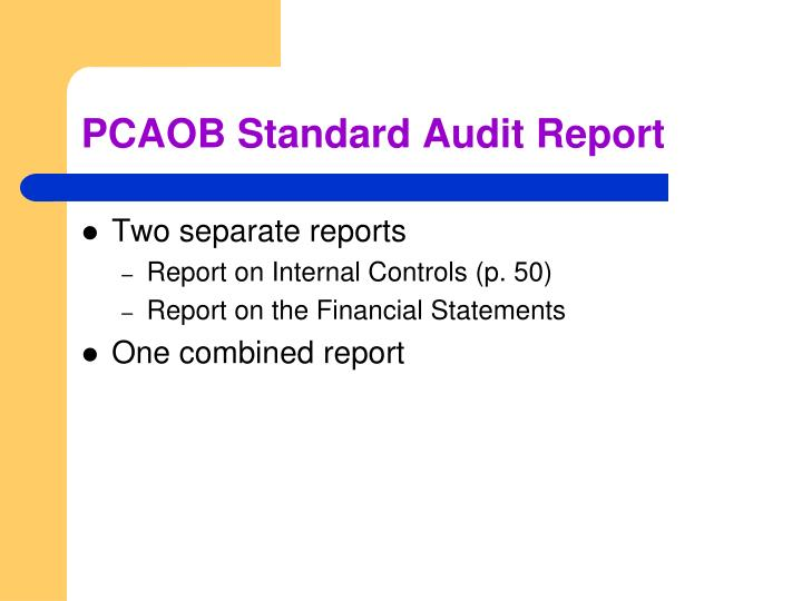 PCAOB Standard Audit Report