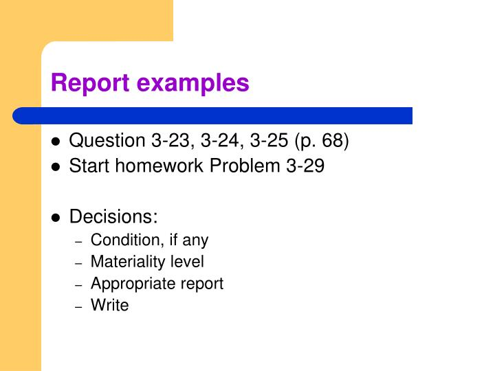 Report examples