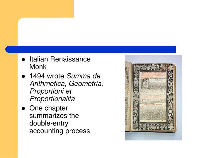 Italian Renaissance Monk