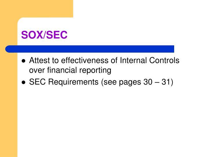 SOX/SEC