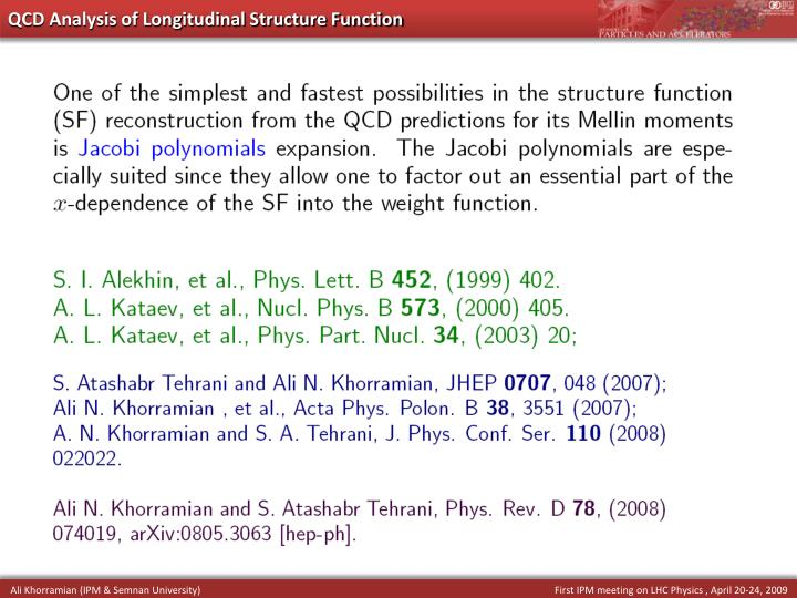 QCD Analysis of Longitudinal Structure Function