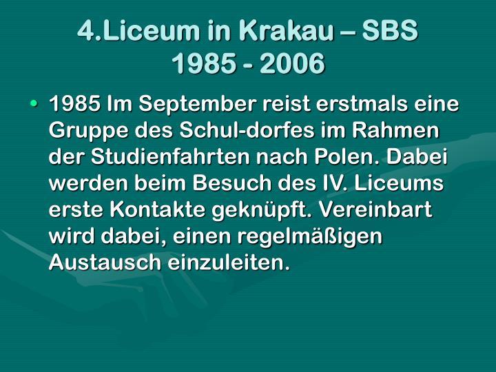 4.Liceum in Krakau – SBS