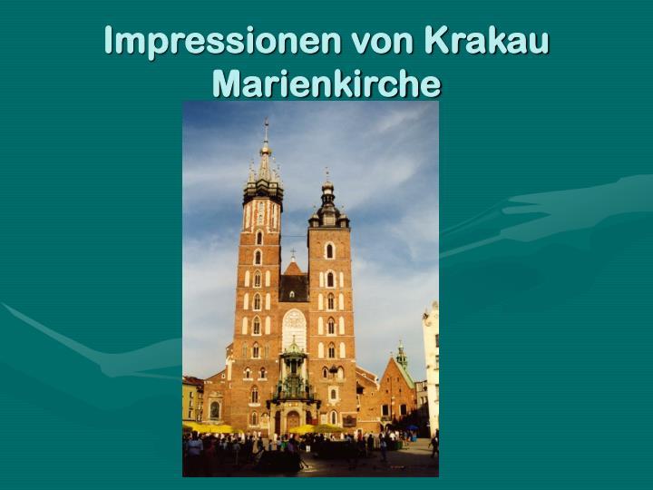 Impressionen von Krakau