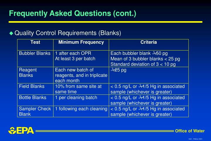 Frequently Asked Questions (cont.)