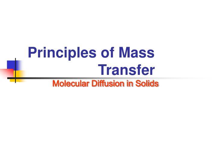 Principles of Mass