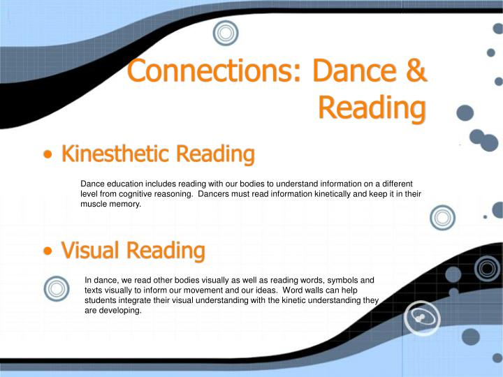 Connections: Dance & Reading