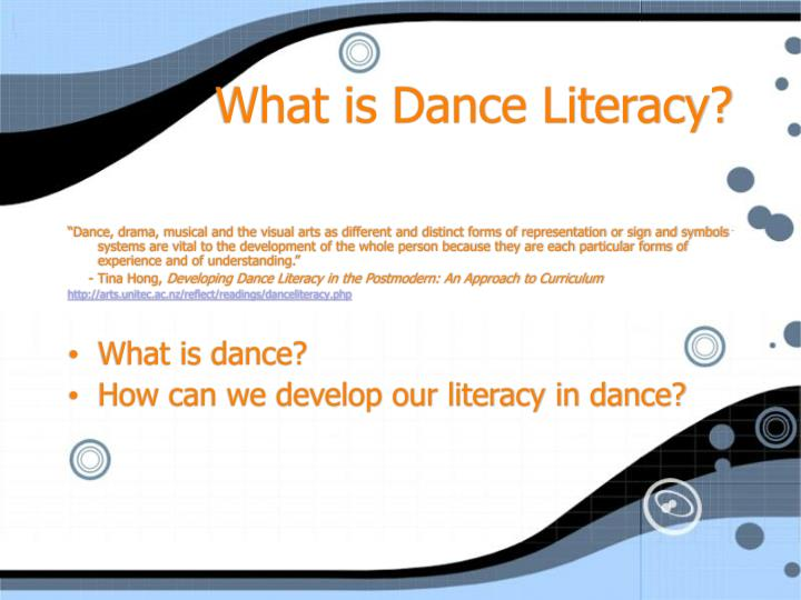 What is dance literacy