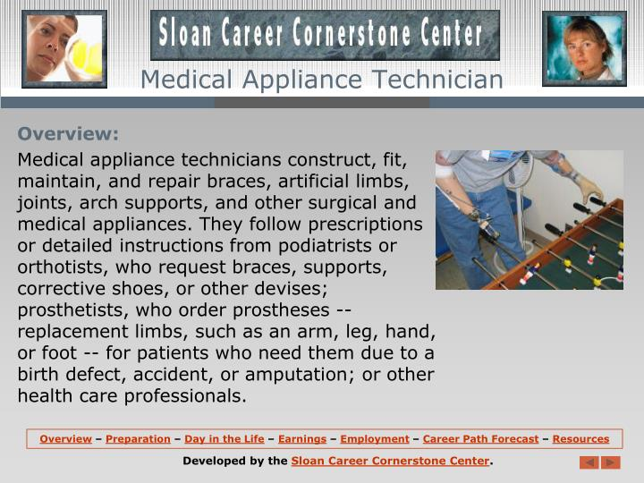 Medical Appliance Technician