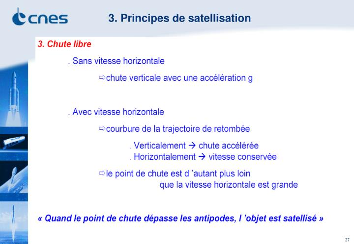 3. Principes de satellisation