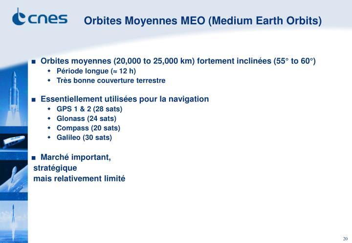 Orbites Moyennes MEO (Medium Earth Orbits)