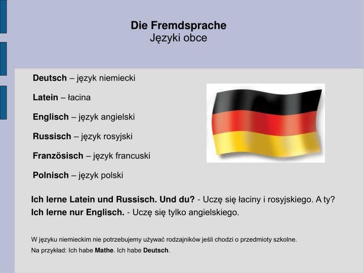 Die Fremdsprache
