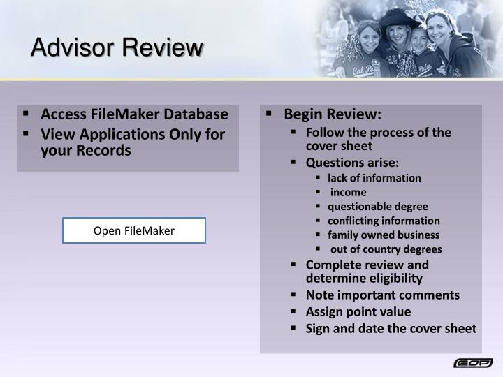 Advisor Review