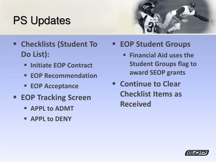 PS Updates