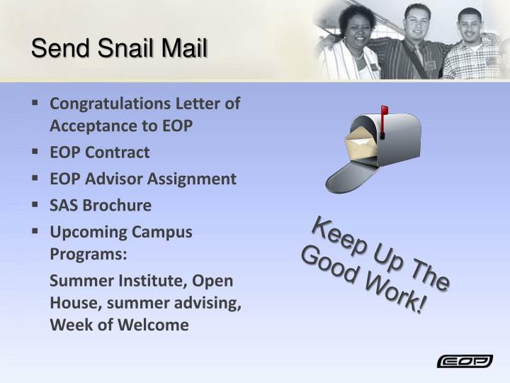 Send Snail Mail