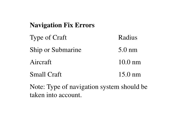 Navigation Fix Errors
