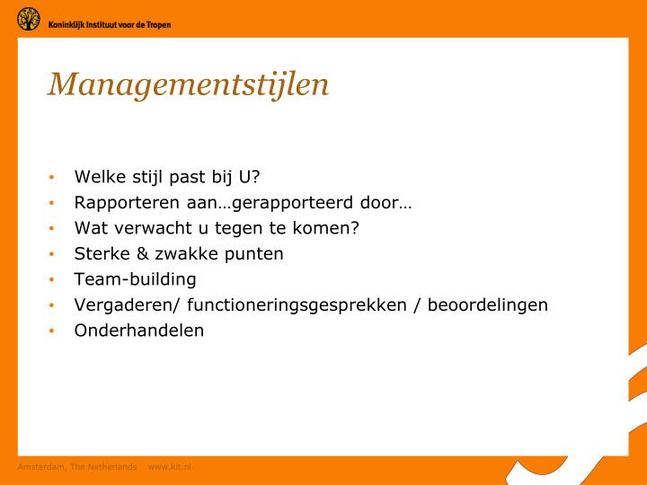 Managementstijlen