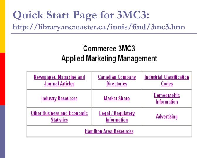Quick Start Page for 3MC3:
