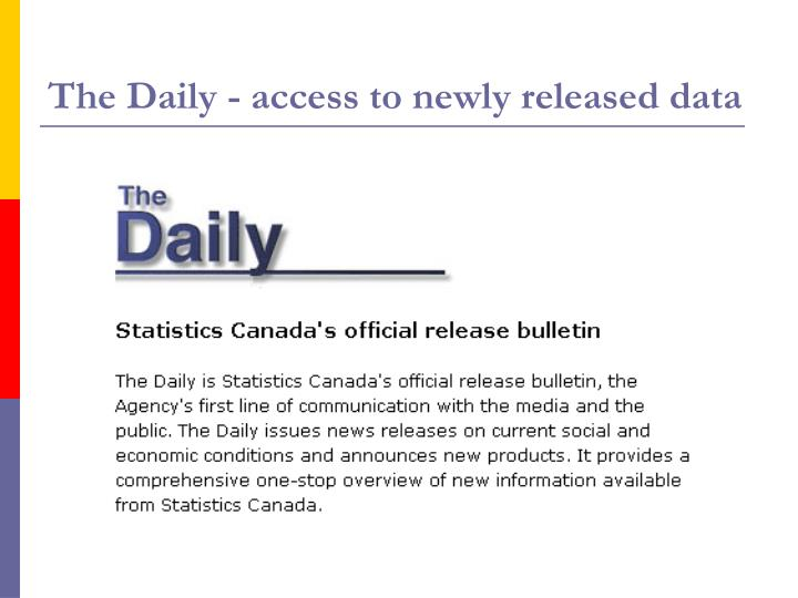 The Daily - access to newly released data