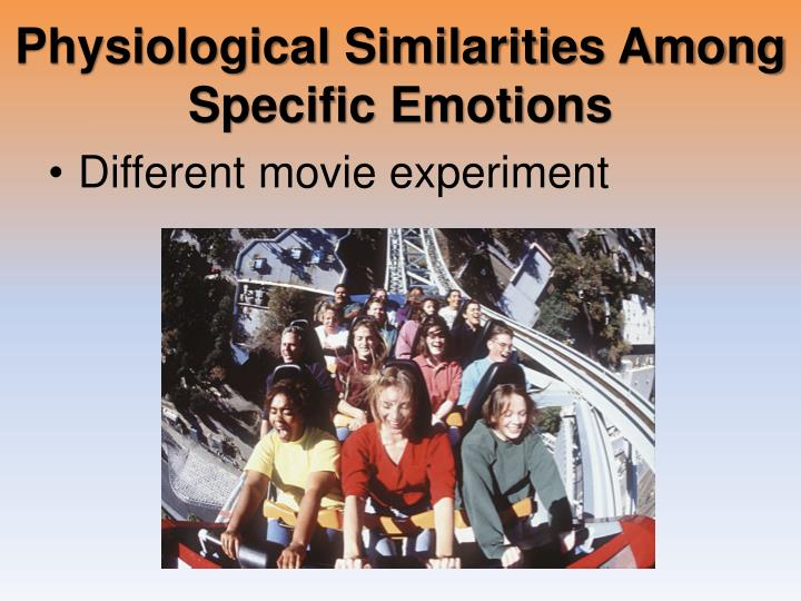 Physiological Similarities Among Specific Emotions
