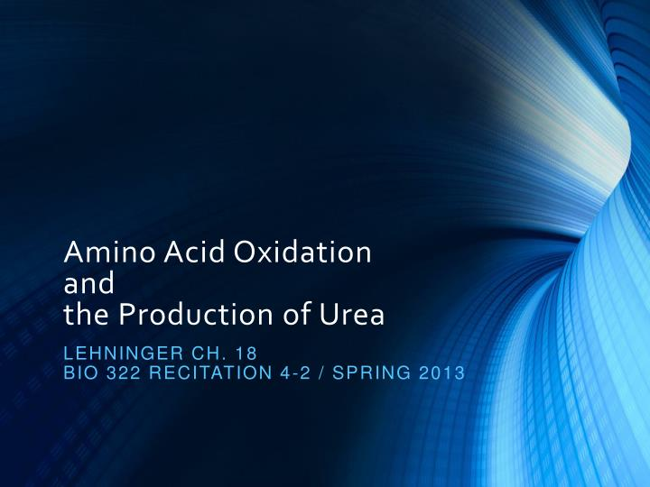 Amino Acid Oxidation