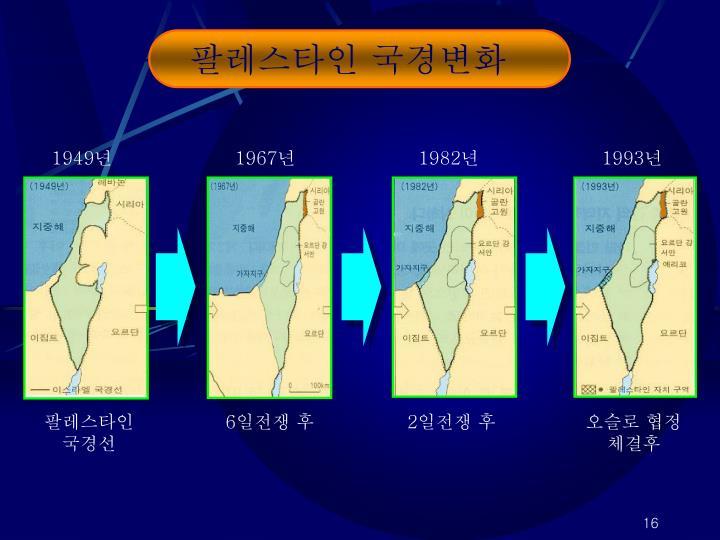팔레스타인 국경변화