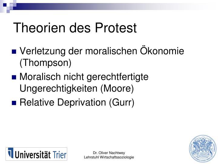 Theorien des Protest