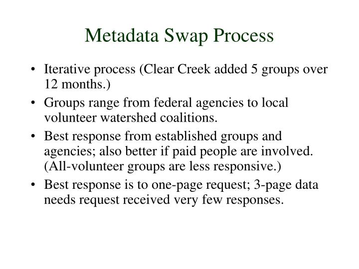Metadata Swap Process