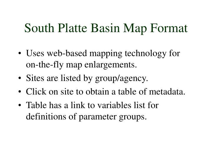 South Platte Basin Map Format