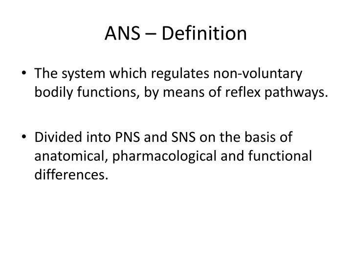 ANS – Definition