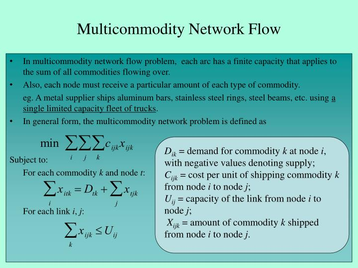 Multicommodity Network Flow