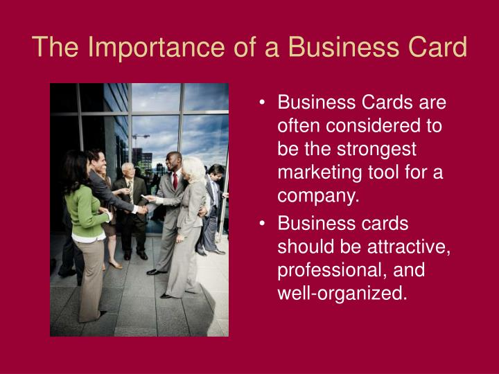 The importance of a business card