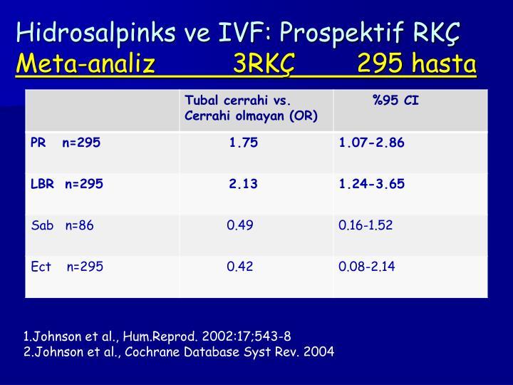 Hidrosalpinks ve IVF: Prospektif RKÇ