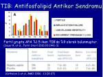 tib antifosfolipid antikor sendromu