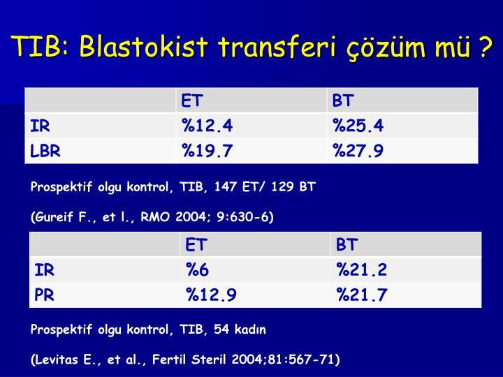TIB: Blastokist transferi çözüm mü ?