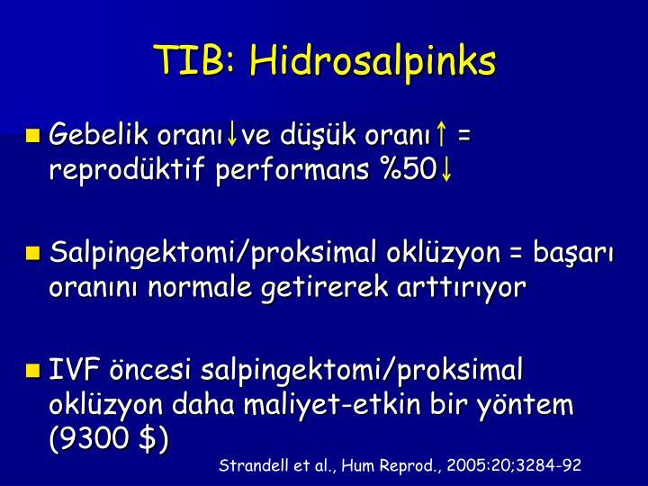 TIB: Hidrosalpinks